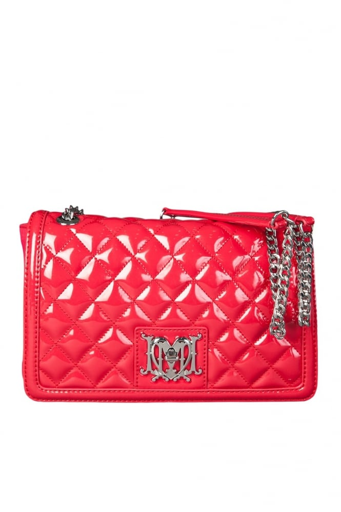 Moschino Ladies Quilted Designer Shoulder Bag in Red JC4226PP0K-500