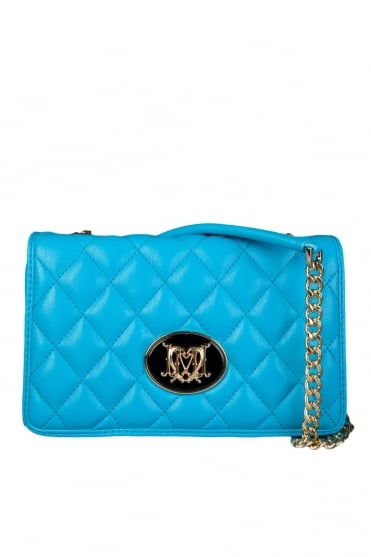 Moschino Ladies Quilted Shoulder Bag in Blue JC4210PP0K-701