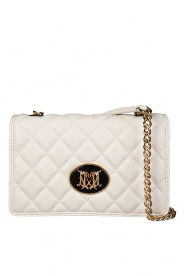 Moschino Ladies Quilted Shoulder Bag in White JC4210PP0K-110