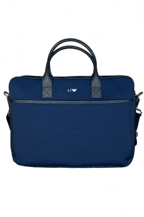 Armani AJ Elegant Laptop Bag in Black and Navy Blue 06229R7
