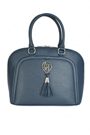 Armani Jeans Elegant Ladies Totes HandBag in Navy Blue and Black 0521YA3