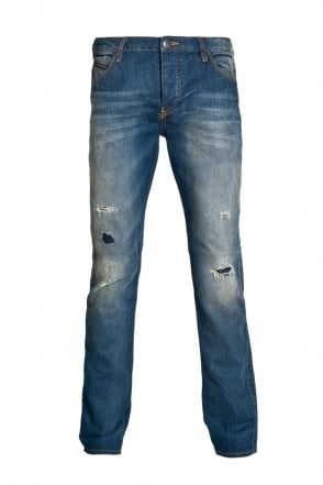 Armani Jeans J50 Extra Slim Fit Denim Jeans in Indigo Blue A6J501K