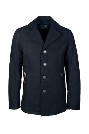 Armani Jeans Smart Jacket in Black and Navy Blue Z6K02PU
