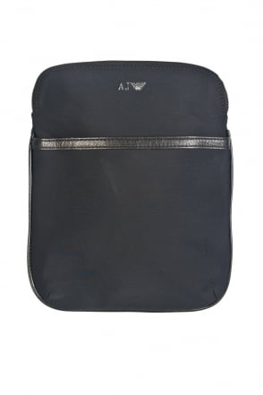 Armani Jeans Tablet Messenger Bag in Black and Navy Blue 06297R7