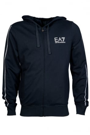 EA7 by Emporio Armani Casual Hooded Sweatshirt in Navy Blue, Black, Red and Grey 2742555P280