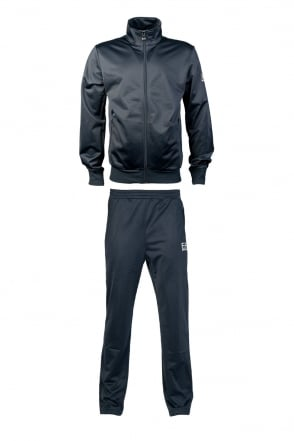 EA7 by Emporio Armani Designer Tracksuit in Black and Navy Blue 2760604A281