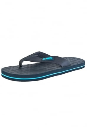 Emporio Armani Flip-flops in Black and Navy Blue 211634P494