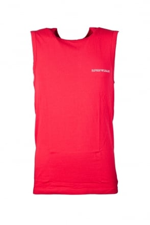 Emporio Armani Underwear Vest in Black  Red and Charcoal Grey 1112345P725