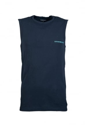 Emporio Armani Vest in White  Black and Navy Blue 1112344P725