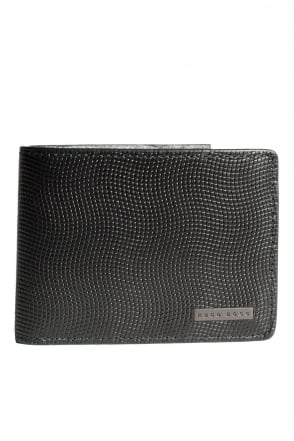 HUGO BOSS BLACK 6 Card Holder Department Wallet in Black BOUND 50235659-001