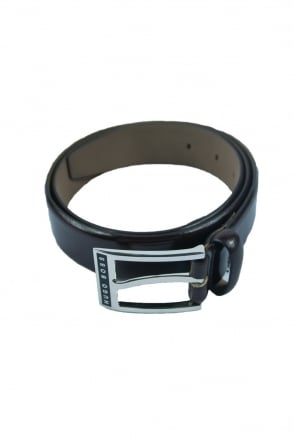 HUGO BOSS BLACK Buckle Belt in Dark Brown ELDWIN 50206733-202