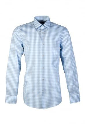 HUGO BOSS BLACK Checked Shirt in Blue JENNO 50260216