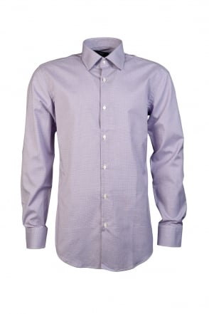 HUGO BOSS BLACK Elegant Checked Shirt in Purple and Blue JACOB 50284979