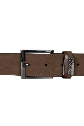 HUGO BOSS BLACK Genuine Leather Belt in Brown SABIT 50286231