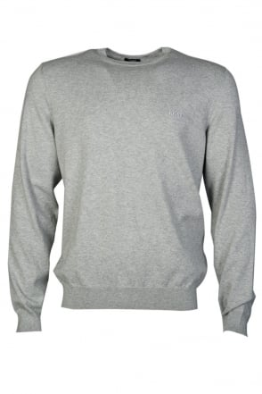 HUGO BOSS BLACK Jumper in Black  Grey  Charcoal Grey and Navy Blue BALDUIN-3 50262274