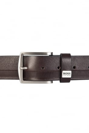 HUGO BOSS BLACK Leather Belt in Black and Brown SALTRIO 50266955