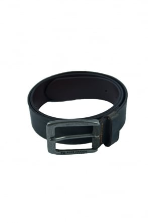 HUGO BOSS BLACK Leather Belt in Dark Brown JIMM 50205808-202