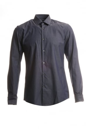 HUGO BOSS BLACK Long Sleeved Business Shirt in Navy Blue JACQUES 50238461