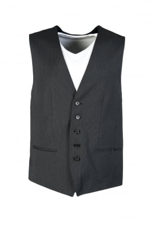 HUGO BOSS BLACK Waistcoat in Black and Charcoal Grey WESTIN 50251084