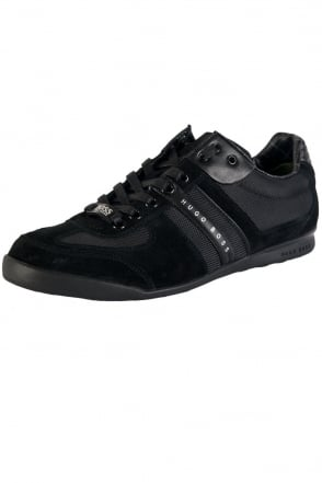 HUGO BOSS GREEN Designer Trainers in Black AKEEN 50247604