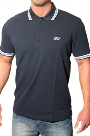 Hugo Boss Green Polo Tee In Navy Blue PADDY 50198254-414