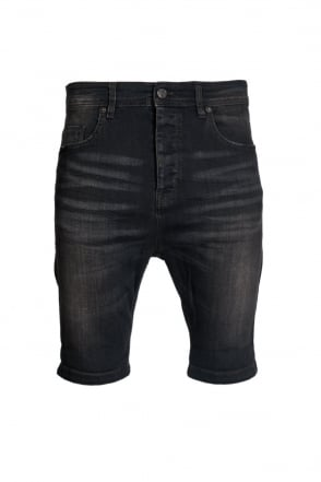 HUGO BOSS ORANGE High Rise Denim Shorts in Black ORANGE99 50283156