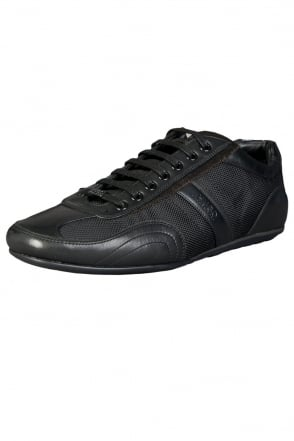 HUGO BOSS RED Textile and Leather Sneakers in Black THATOZ 50227208