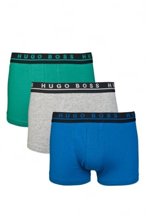 HUGO BOSS Stretch 3 Pack Boxer Shorts in Multi colour BOXER 3P FN 50271738