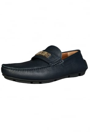 Moschino Designer Driving Shoes in Navy Blue 56092-12009003-01-9104