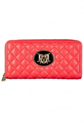 Moschino Ladies Quilted Designer Wallet in Red JC5525PP0K-500