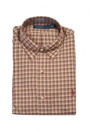 Polo Ralph Lauren Shirt in Check Beige Brown A04WBDBDC485C