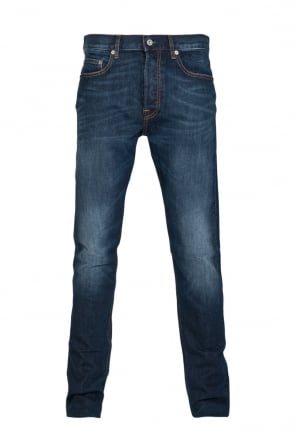 Stone Island Regular Fit Denim Jeans in Indigo Blue 6115J4BGA