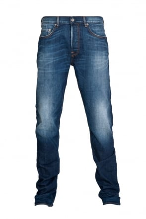 Stone Island Regular Fit Denim Jeans in Indigo Blue 6315J4BGA