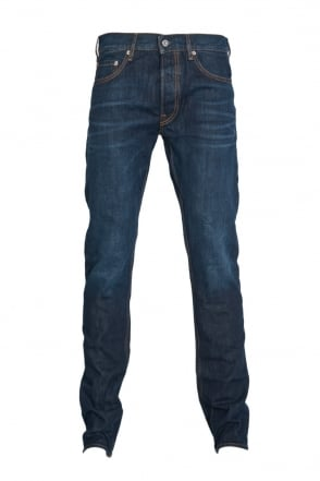 Stone Island Slim Fit Denim Jeans in Indigo Blue 6115J1BI2