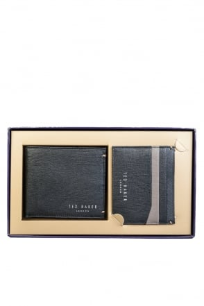 Ted Baker Wallet Bi-fold with 8 Card Slots and Card Holder with 5 Card Slots DA6M/GG03/FRANK 00