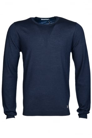 Versace Wool Blend Jumper in Navy Blue V700535VK00081-V408