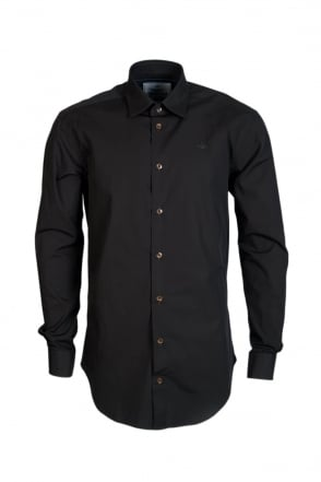 Vivienne Westwood Black Cotton Shirt S25DL0311S44448-900