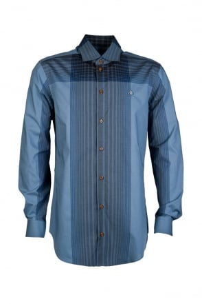 Vivienne Westwood Checked Shirt in Blue S25DL0258S42580-001F