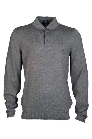 73f3a817 HUGO BOSS BLACK Polo Knitwear in Black and Grey BANET-D 50273834