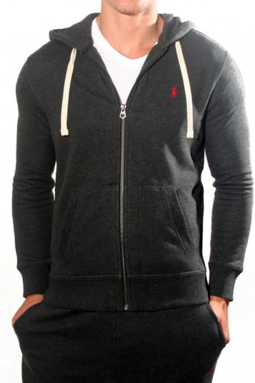 Ralph Lauren Hooded Sweatshirt in Charcoal Grey A14KHZ75B1584-A0129