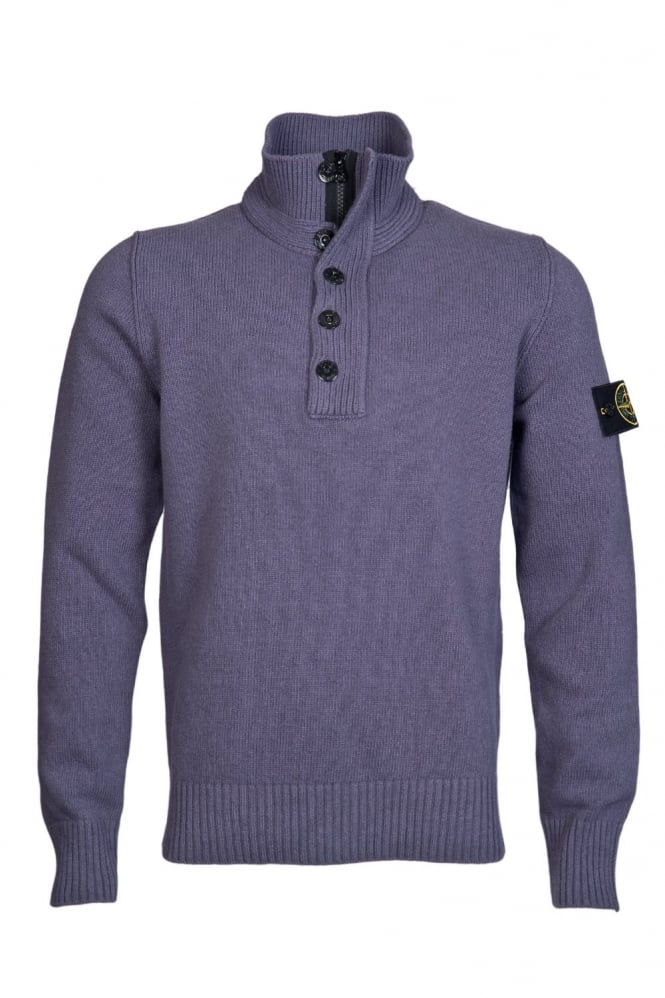 1/4 Zip and Button Neck Knitwear in Blue and Black 6315508A3