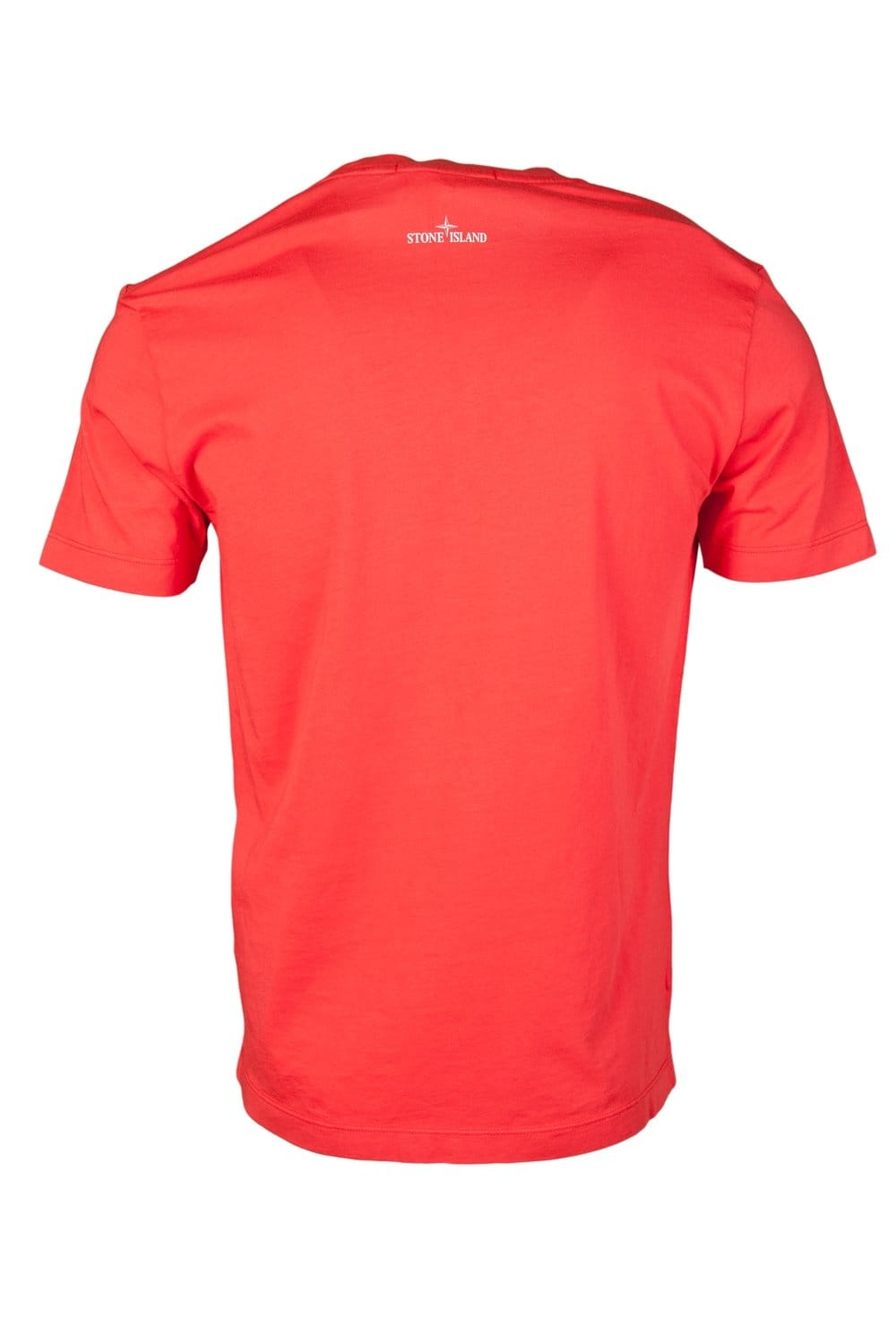 Stone Island Casual Designer T Shirt In Red Orange And
