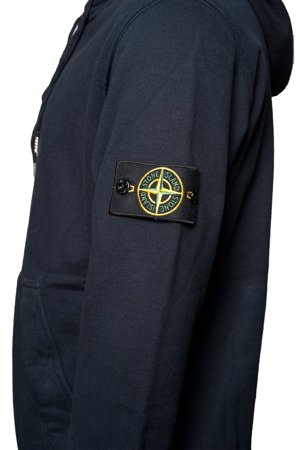 stone island full zip hooded sweatshirt in black navy blue. Black Bedroom Furniture Sets. Home Design Ideas