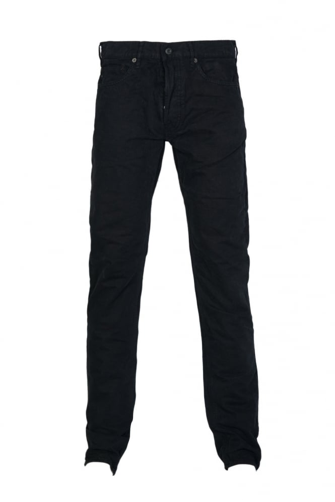 Gabardine Jeans in Navy Blue Black and Charcoal Grey 6115J4BXN