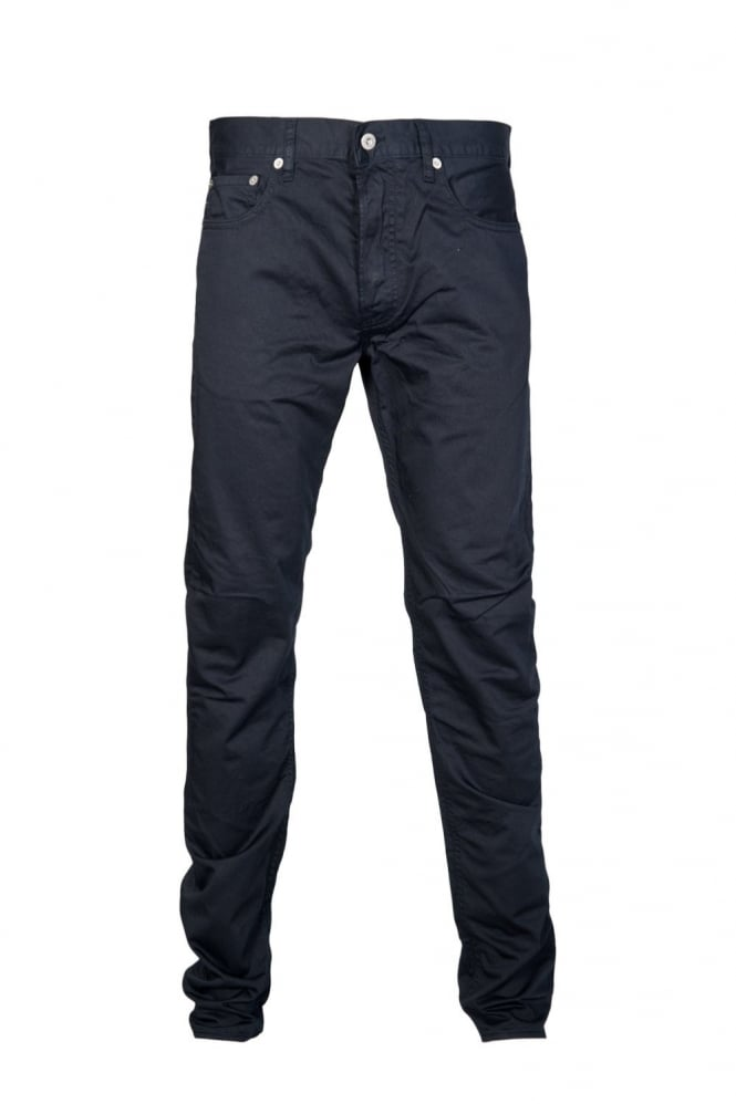 Regular Fit Gabardine Jeans in Grey Khaki Green and Navy Blue 6015J4BZM