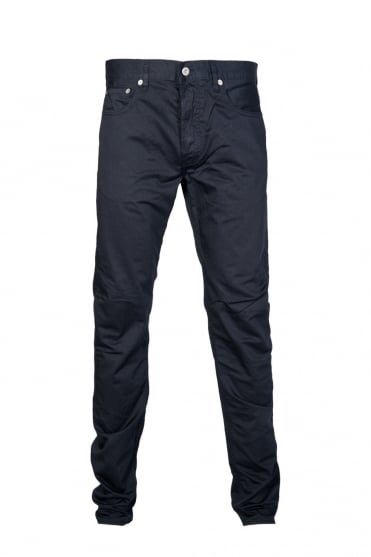 Stone Island Regular Fit Gabardine Jeans in Grey, Khaki Green and Navy Blue 6015J4BZM