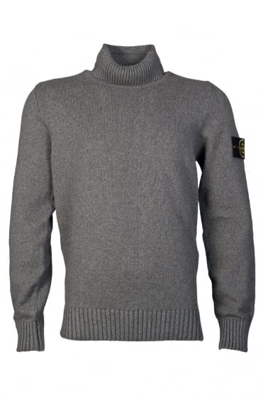 Stone Island Roll Neck Jumper in Charcoal Grey 6115544B4