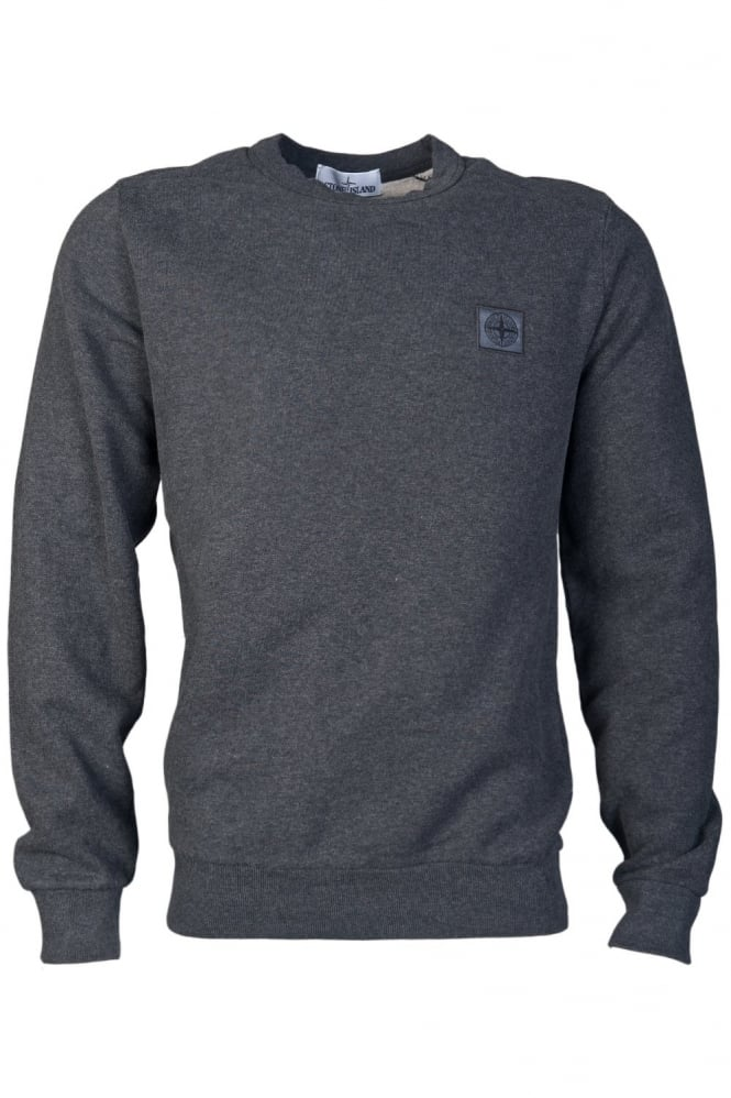 Round Neck Sweat Top in Grey and Black 611562350