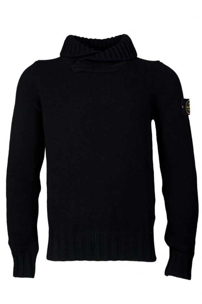 Shall Neck Knitwear in Black 6115586A2