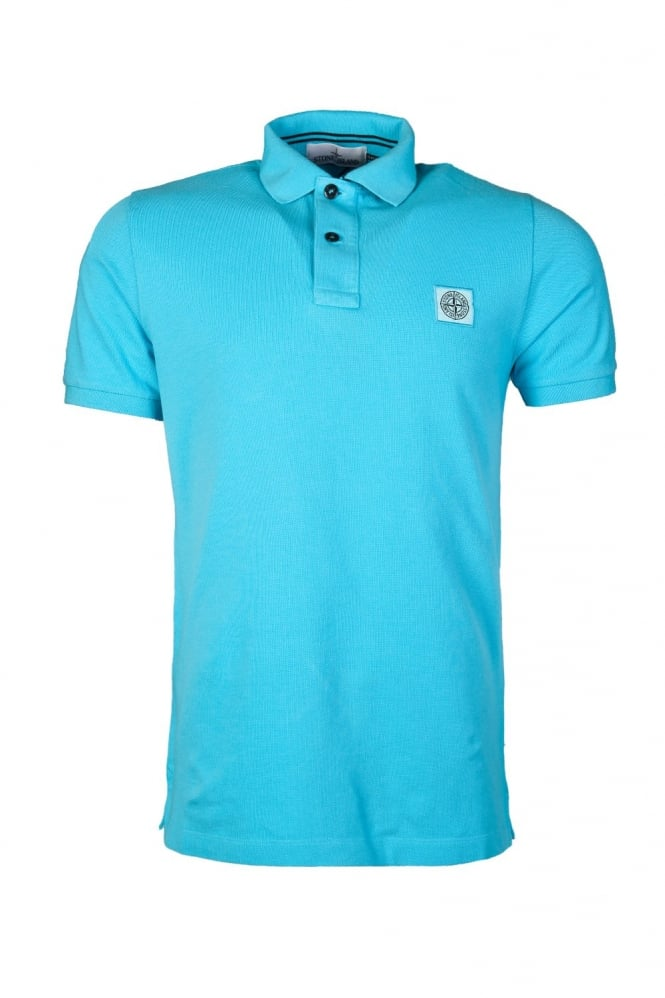 Slim Fit Polo Shirt in Orange Black White and Blue 621522S15